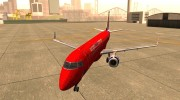Embraer ERJ 190 Virgin Blue for GTA San Andreas miniature 1