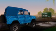 UAZ 469 Blue Star for GTA San Andreas miniature 8
