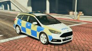 2015 Police Ford Focus ST Estate for GTA 5 miniature 4