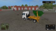 MAN skip truck with container (v1.0 Pummelboer) for Farming Simulator 2017 miniature 5