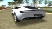 Aston Martin One 77 для GTA Vice City миниатюра 4