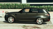 Ranger Rover Sport HST 2016 for GTA 5 miniature 2