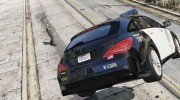 2016 Mercedes-Benz CLA 45 AMG Shooting Brake POLICE для GTA 5 миниатюра 11