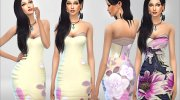 Summer Dreams Dress for Sims 4 miniature 2