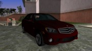 Mercedes-Benz C63 (AMG) 2010 for GTA Vice City miniature 2