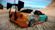 Nissan Skyline GT-R R34 for GTA San Andreas miniature 2
