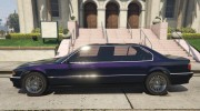 BMW L7 - 750IL E38 for GTA 5 miniature 4