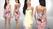Summer Dreams Dress for Sims 4 miniature 3