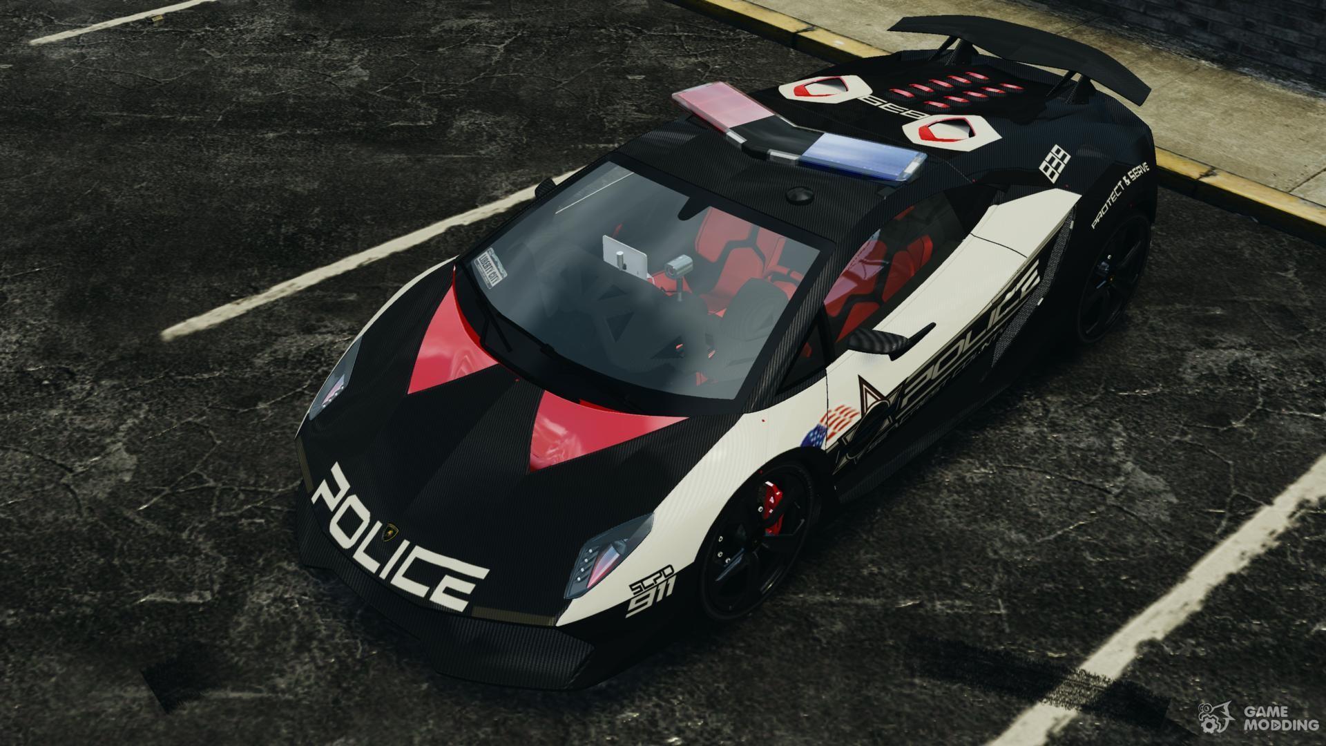 Lamborghini Sesto Elemento 2011 Police V1.0 [ELS] For GTA 4 Back View