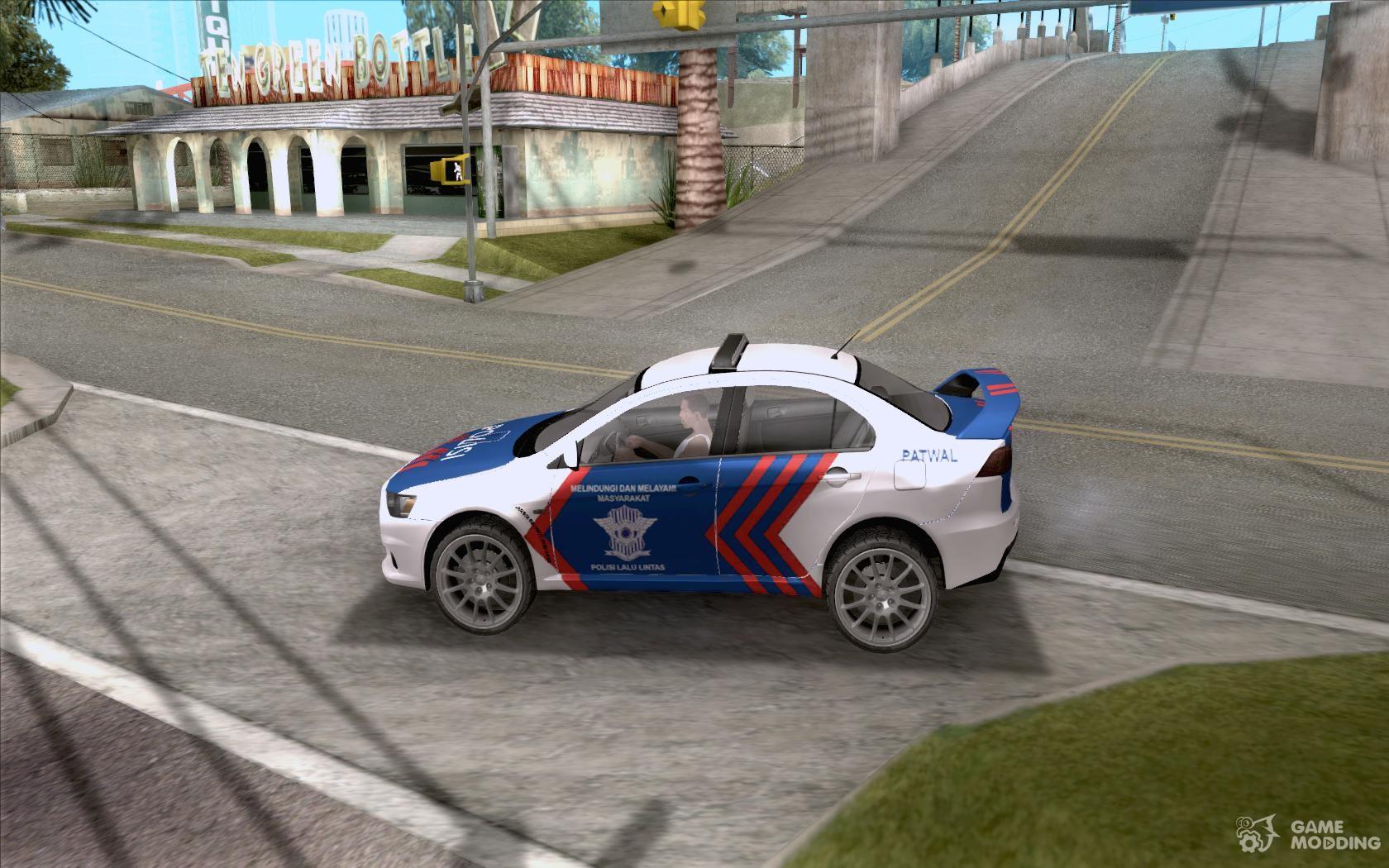Mitsubishi Lancer X Police Indonesia For GTA San Andreas