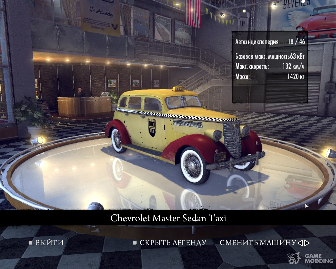 Real Car Names: English names without year for Mafia II
