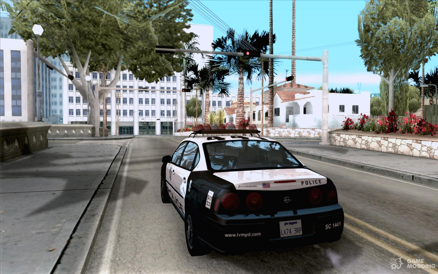 Chevrolet impala police 2003 for gta san andreas rear left view