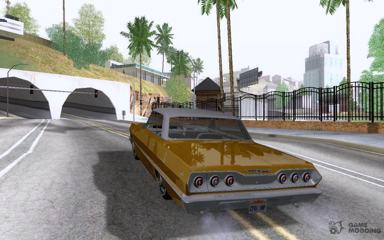 Chevrolet impala 4 door hardtop 1963 for gta san andreas - Chevrolet Impala 4 Door Hardtop 1963 For Gta San Andreas Rear Left View