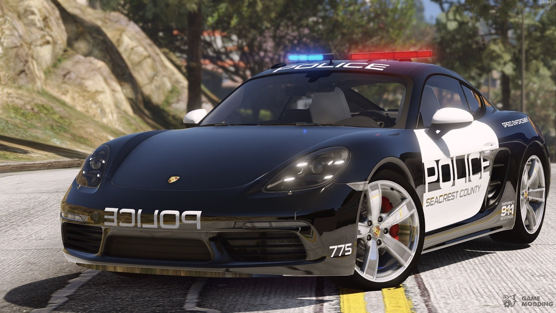 Porsche Cayman S 718 Hot Pursuit Police For Gta 5