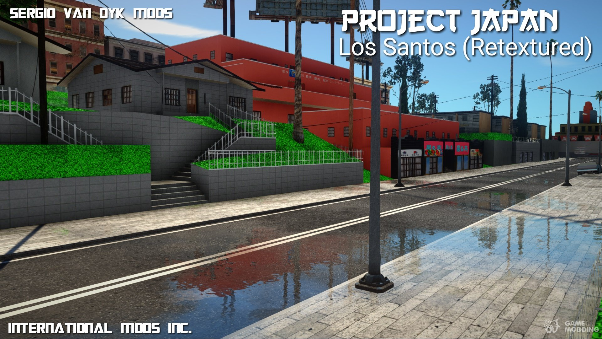 PROJECT JAPAN Los Santos (Retextured) for GTA San Andreas
