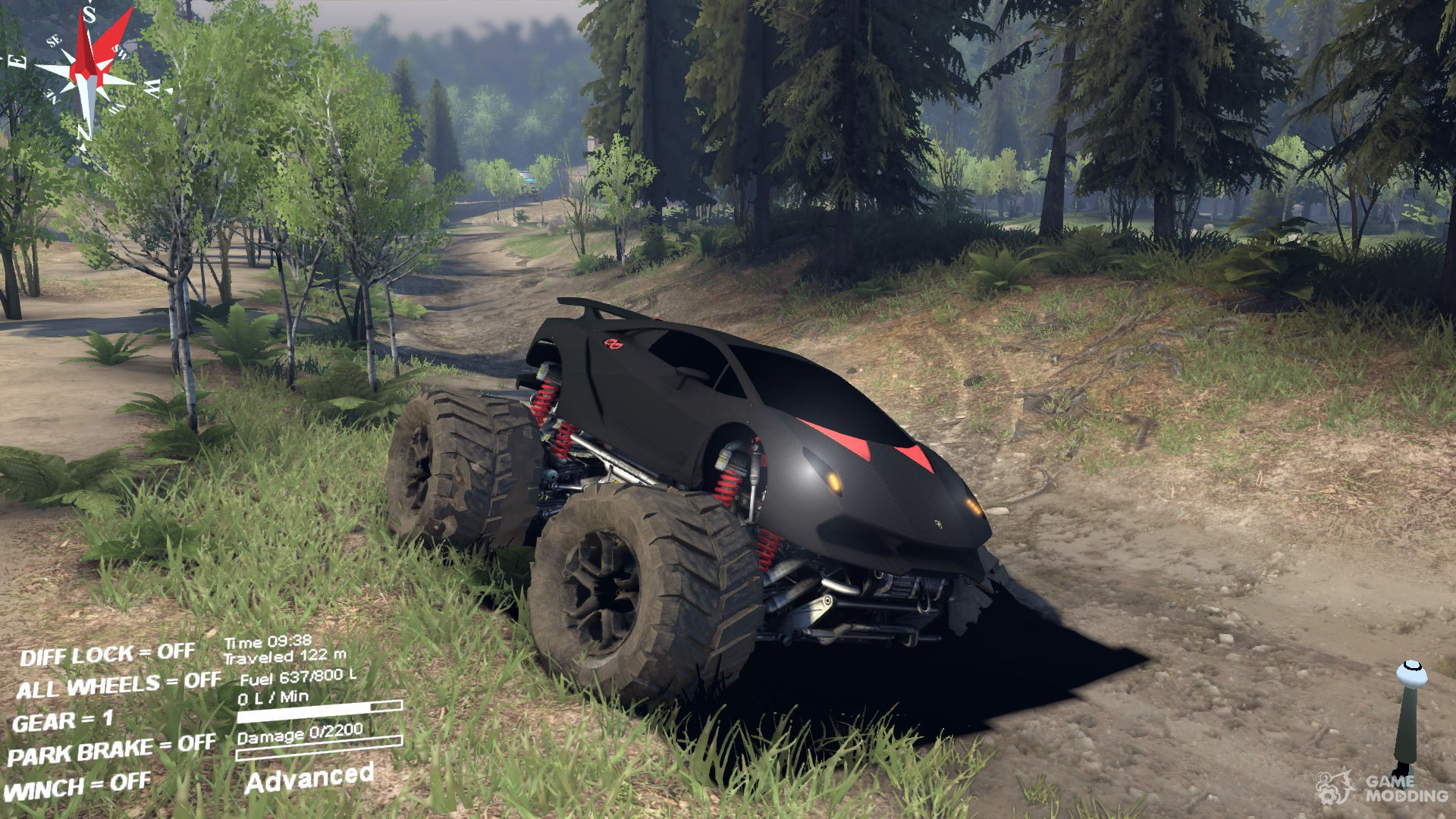 Lamborghini Sesto Elemento Monster Truck For Spintires 2014