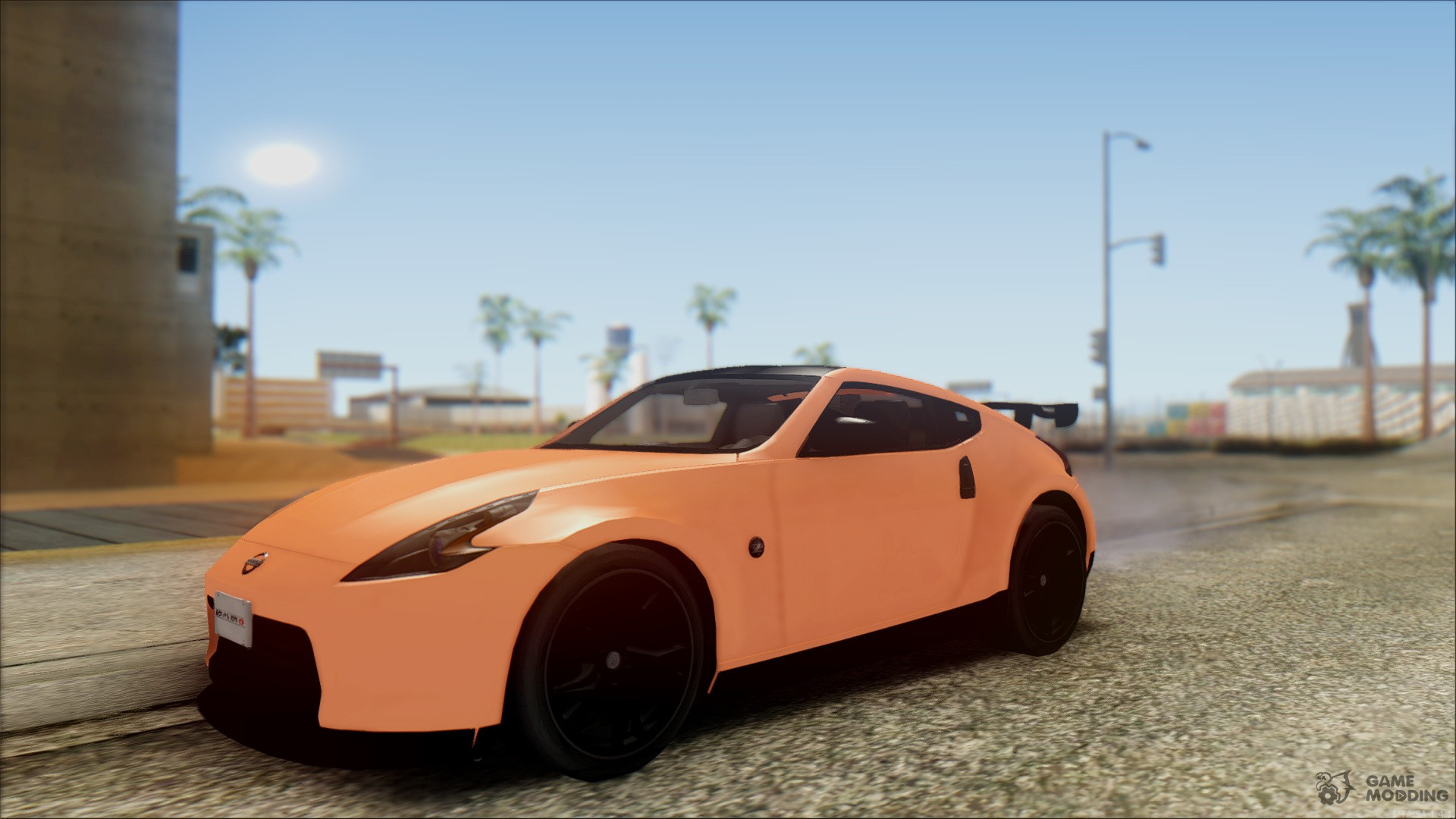 Nissan 370z nismo for gta san andreas rear left view