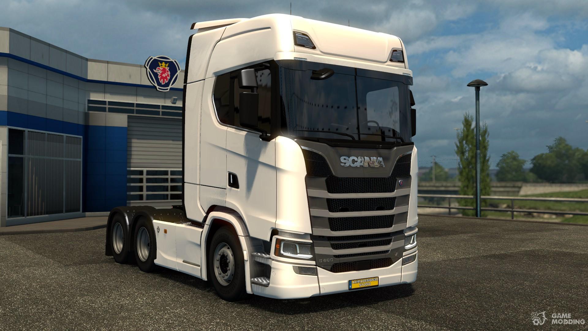 scania s580 v8 2017 euro truck simulator 2. Black Bedroom Furniture Sets. Home Design Ideas