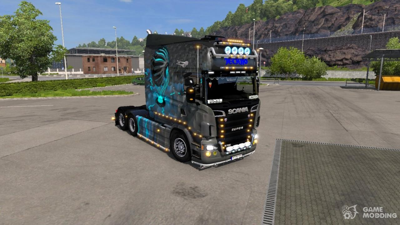 techno for scania rs for euro truck simulator 2. Black Bedroom Furniture Sets. Home Design Ideas