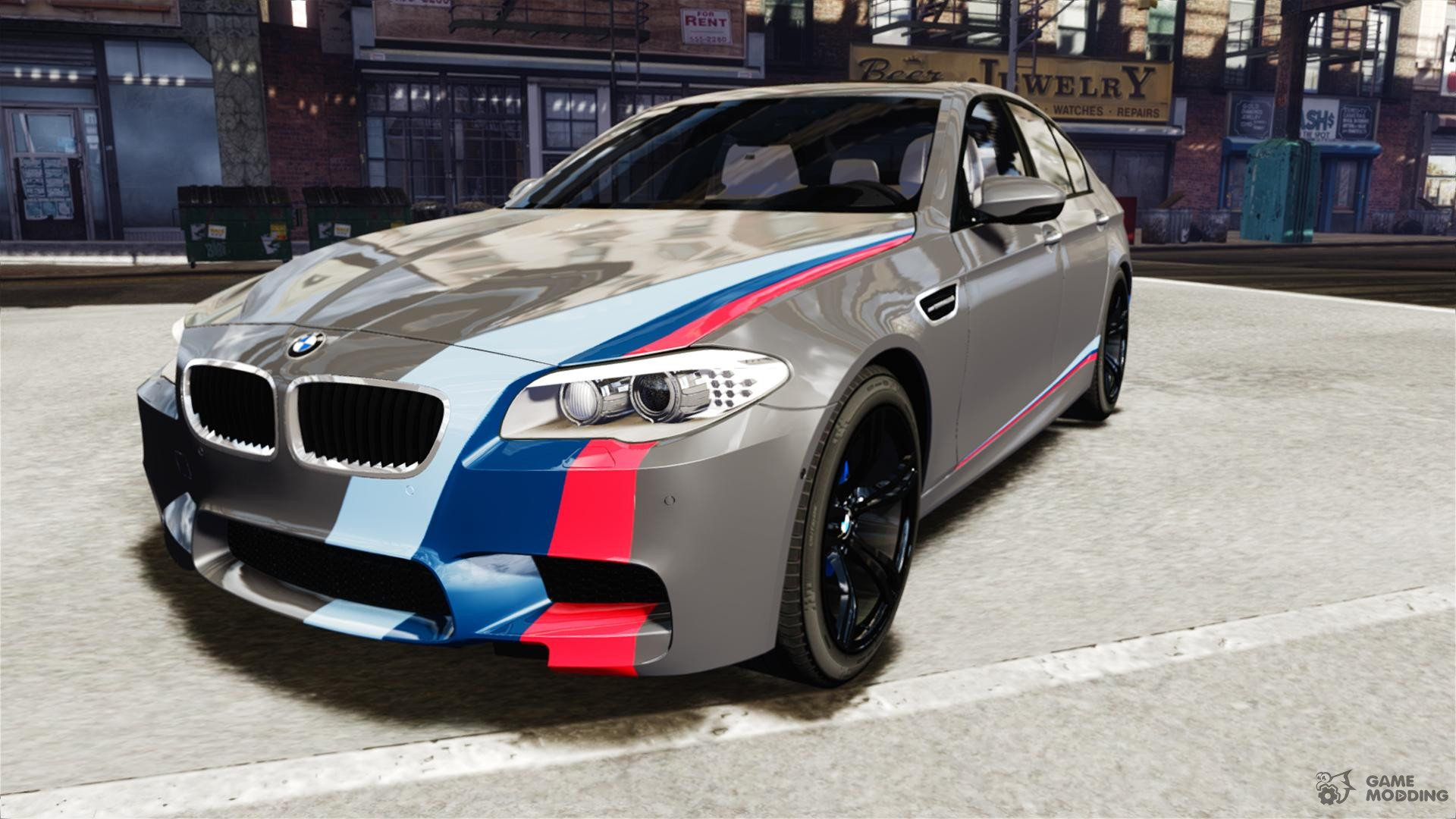 2012 BMW M5 F10 M Stripes for GTA 4