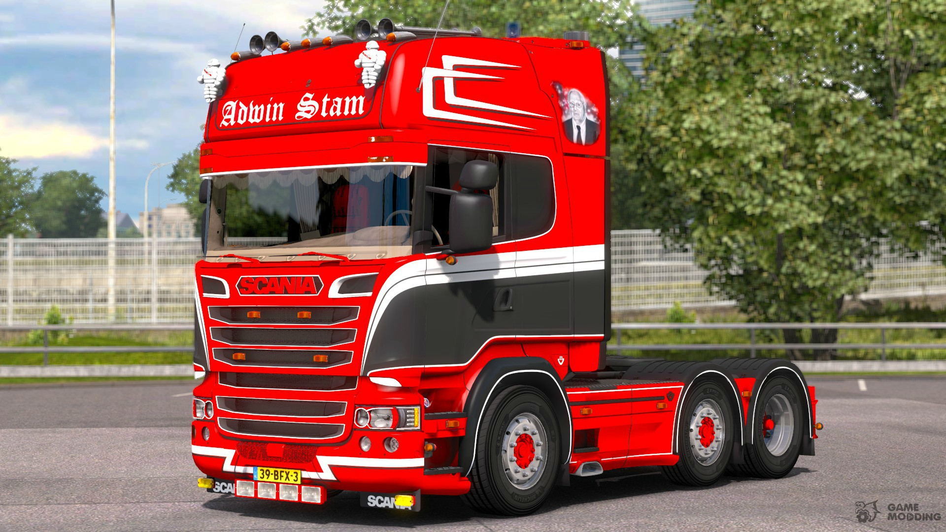 scania r520 adwin stam for euro truck simulator 2. Black Bedroom Furniture Sets. Home Design Ideas