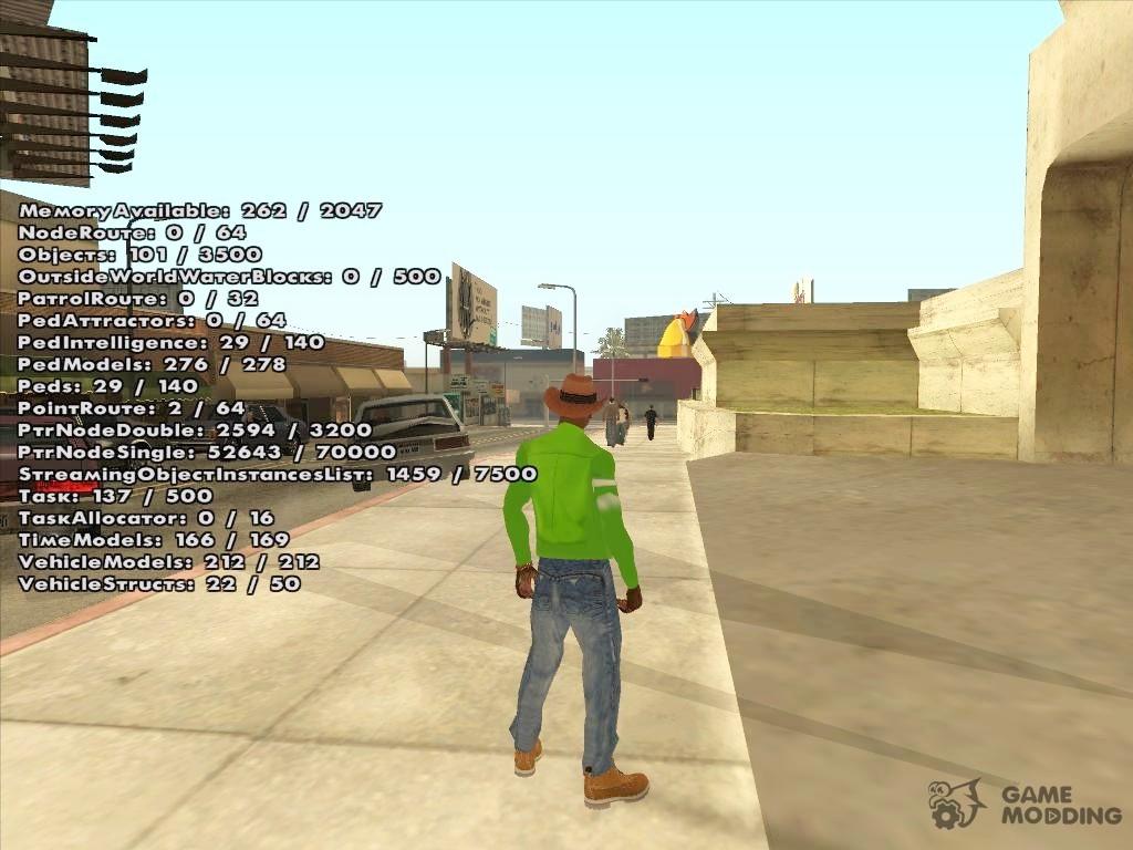 Open Limit Adjuster v1 5 4 for GTA San Andreas