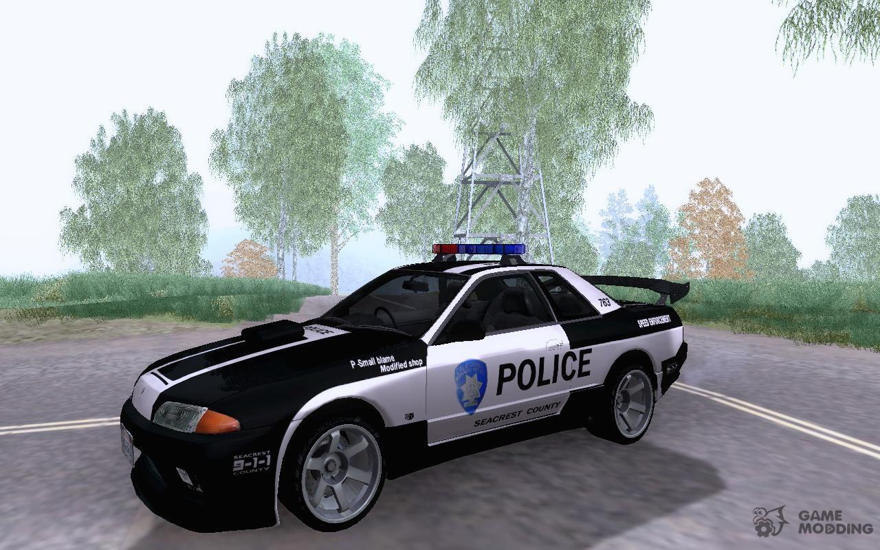 nissan skyline r32 police for gta san andreas. Black Bedroom Furniture Sets. Home Design Ideas