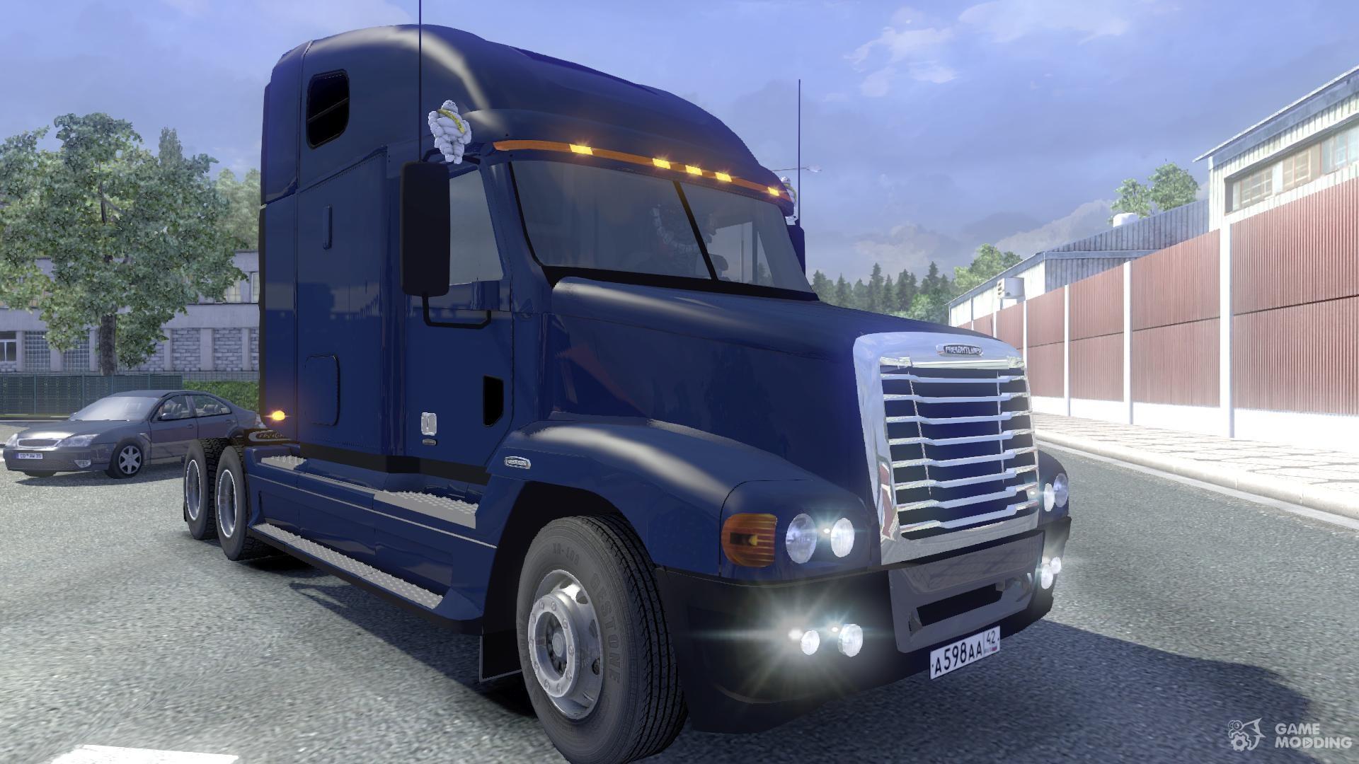 freightliner trucks interior. freightliner century st u0026 interior for euro truck simulator 2 trucks