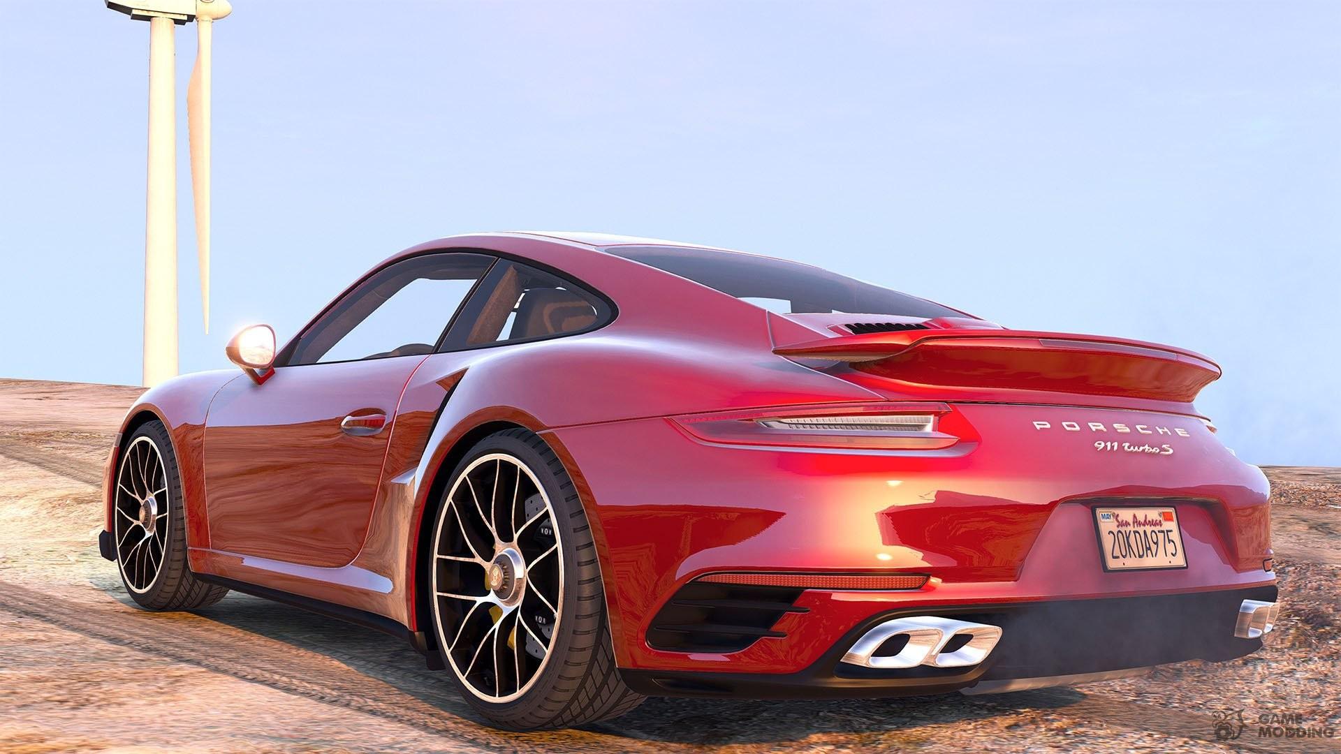 2016 porsche 911 turbo s 1 2 for gta 5. Black Bedroom Furniture Sets. Home Design Ideas
