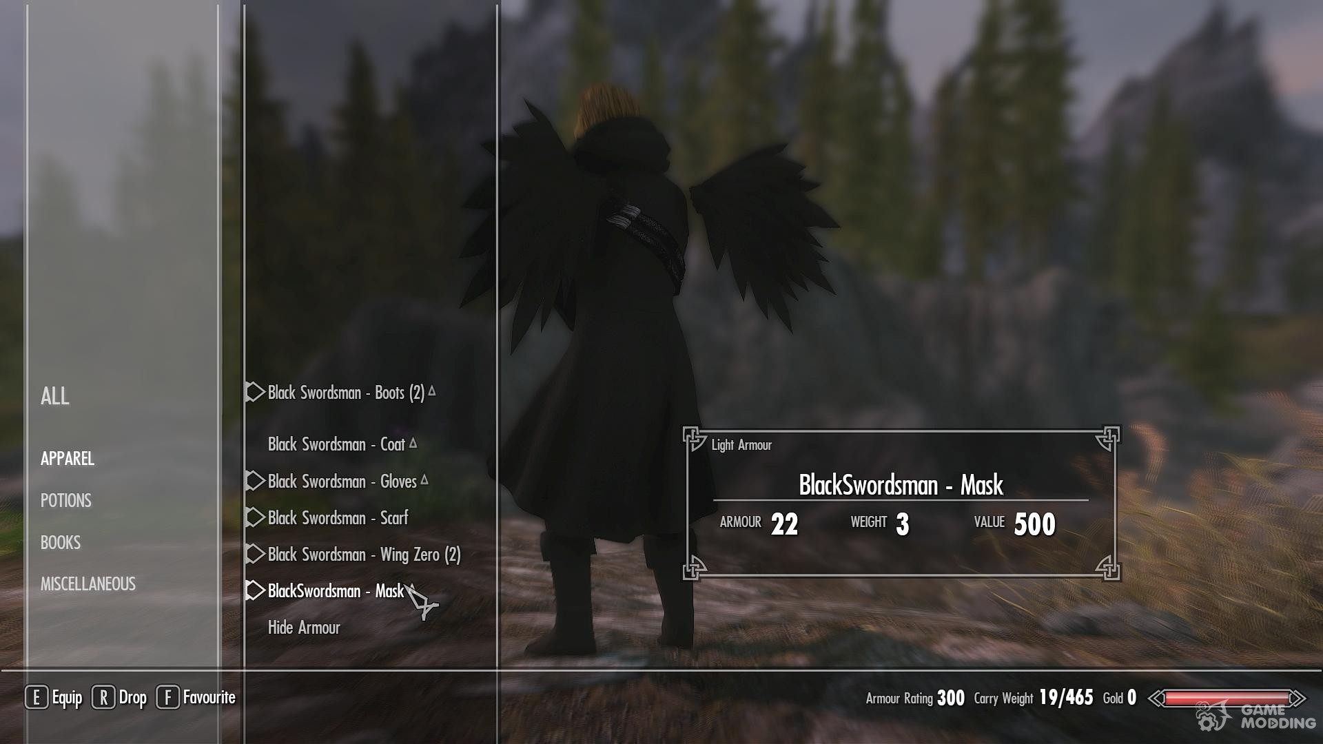 Black gloves skyrim - Black Swordsman Armor For Tes V Skyrim Rear Left View