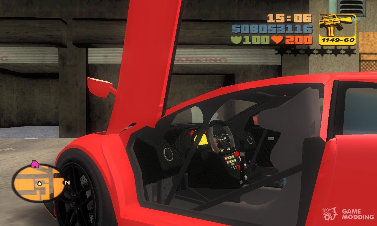 Lamborghini Murcielago R Gt1 Sv Tt For Gta 3