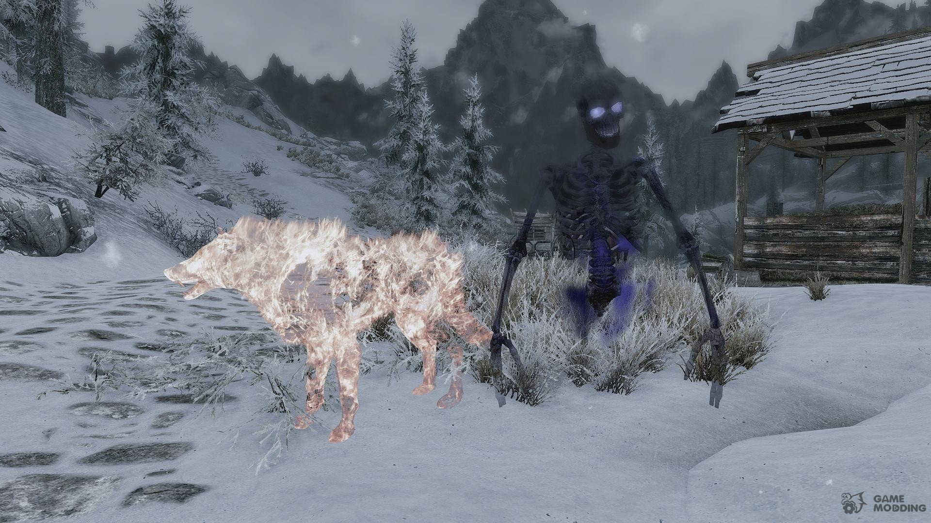 Summon Creatures of the Hell - Mounts and Followers for TES V Skyrim rear-left