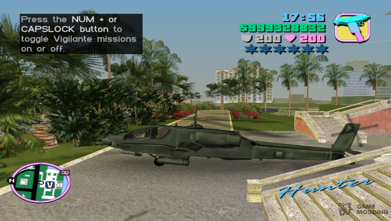cheat codes of gta vice city for helicopter in pc