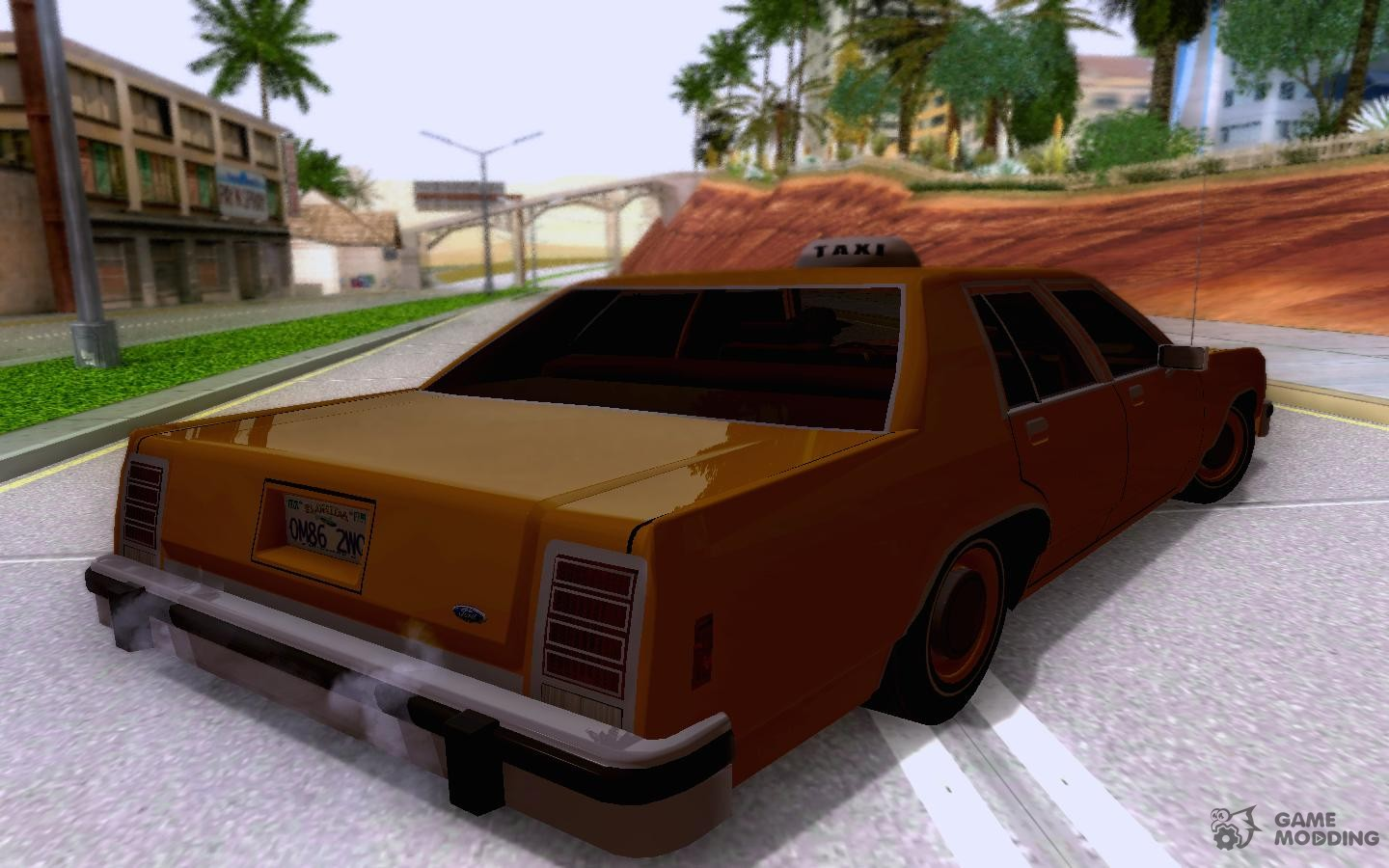 Ford crown victoria ltd 1985 taxi for gta san andreas left view