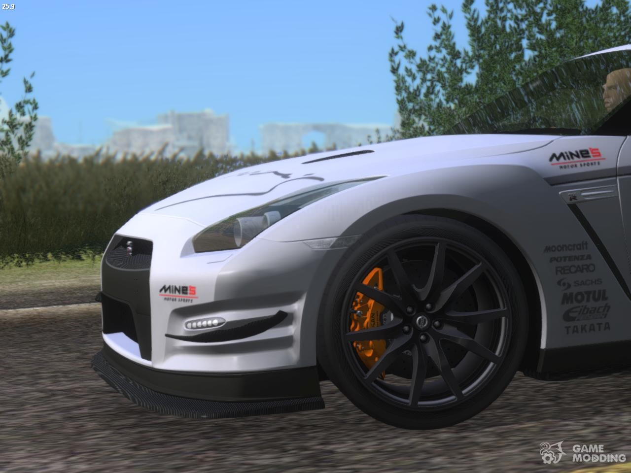 Nissan GTR R35 2012 For GTA San Andreas Side View