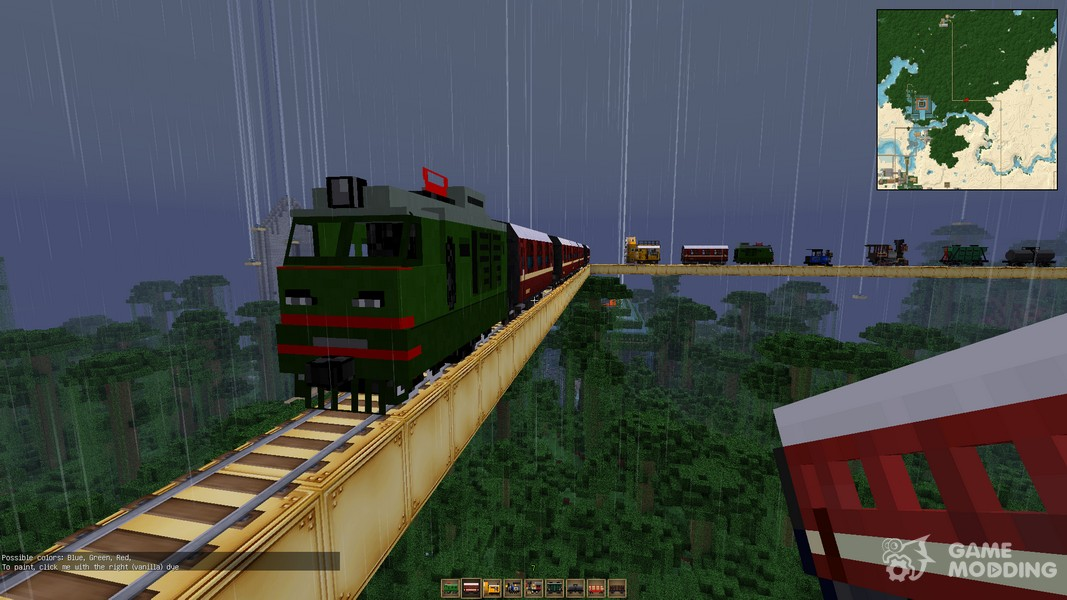 how to build a train in minecraft