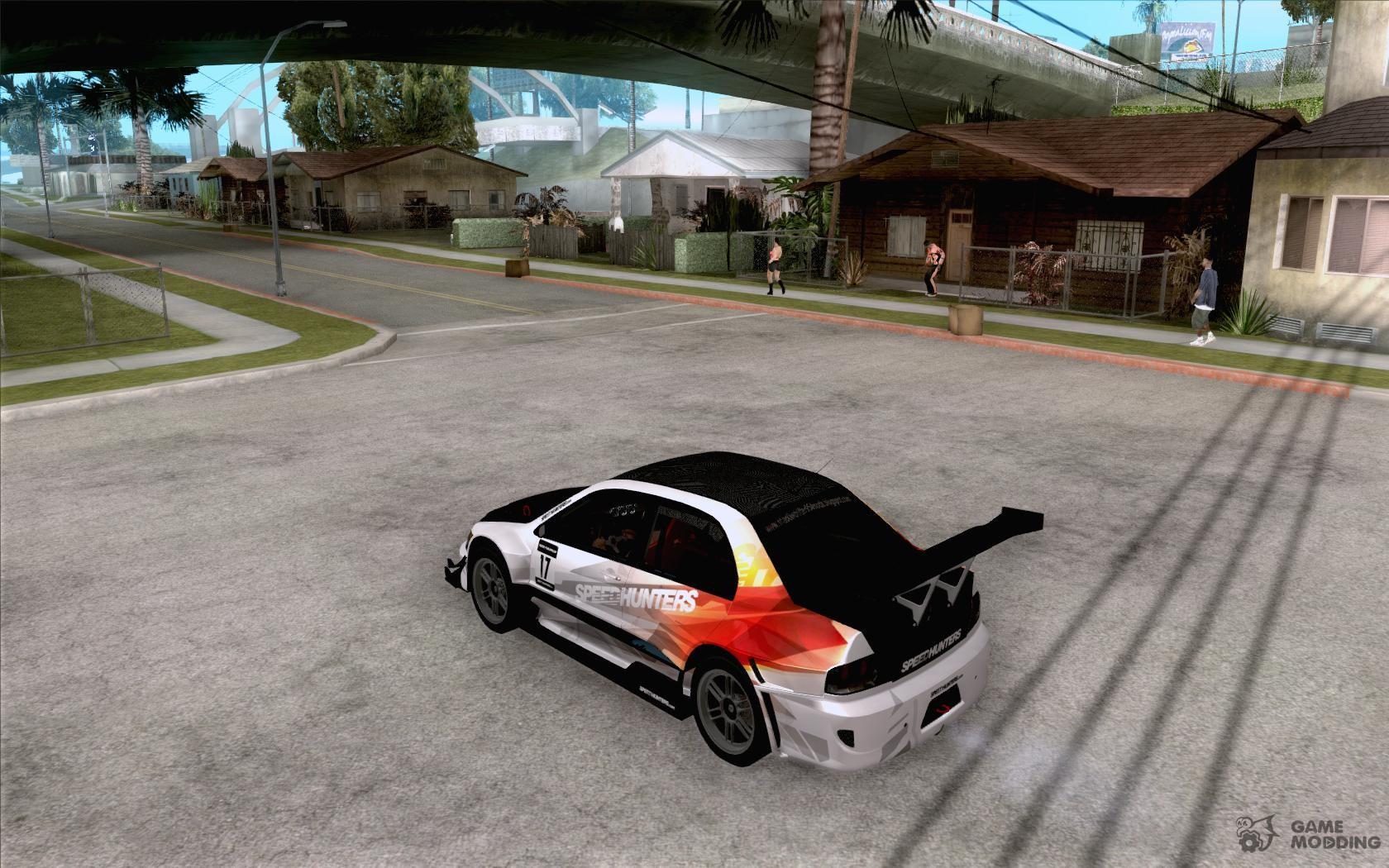 Mitsubishi lancer evo ix speedhunters edition for gta san andreas rear left view