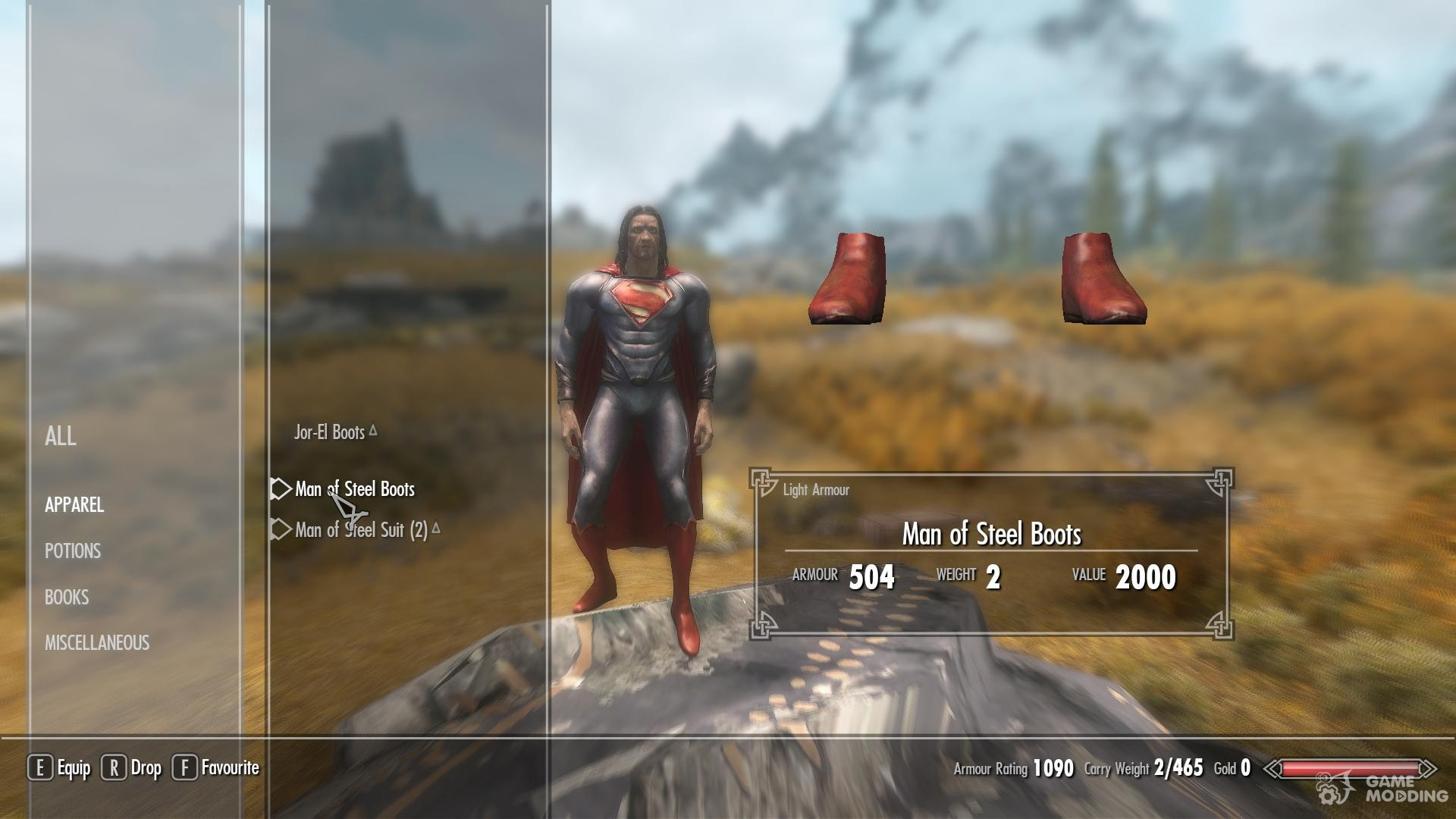 Скайрим мод на Супермена