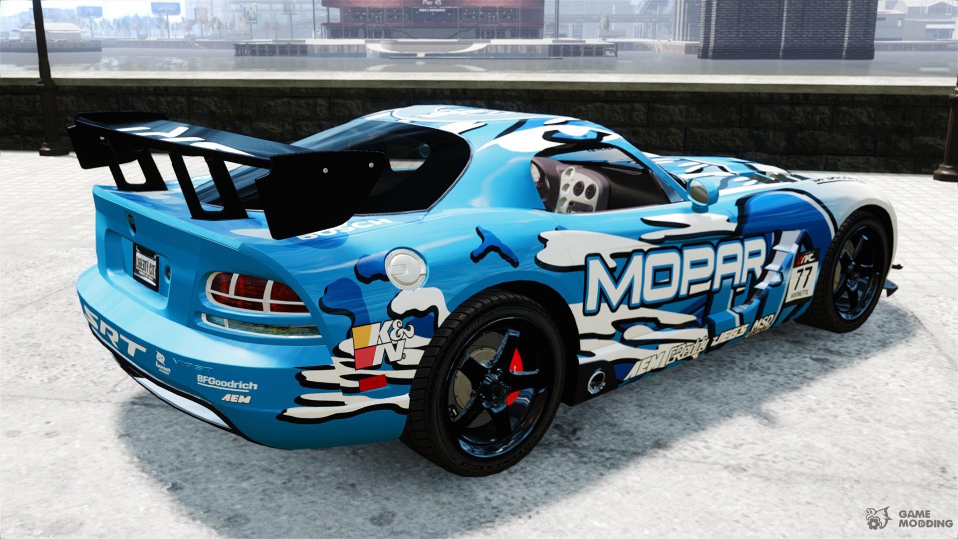 Dodge Viper Srt 10 Mopar Drift For Gta 4