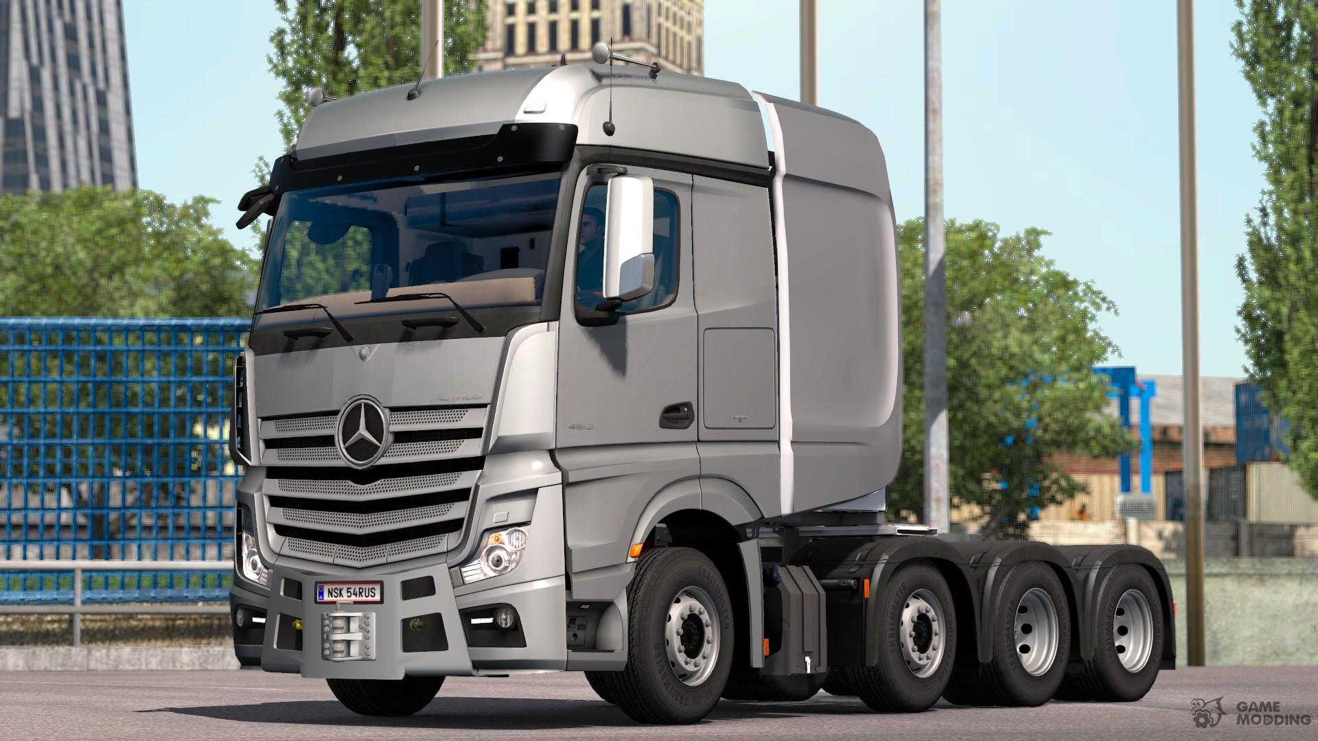 mercedes benz actros arocs slt for euro truck simulator 2. Black Bedroom Furniture Sets. Home Design Ideas