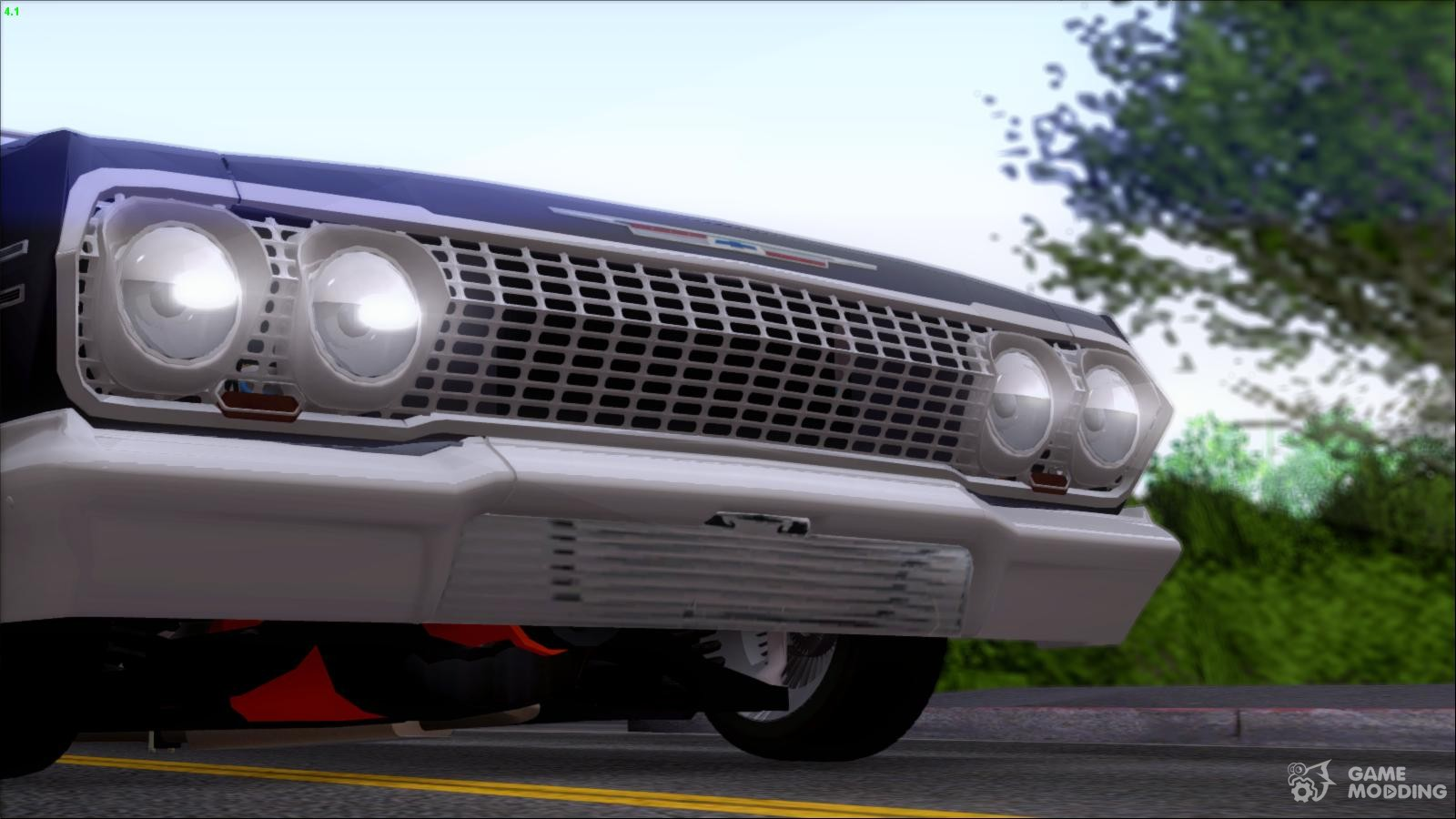 Chevrolet impala 4 door hardtop 1963 for gta san andreas - Chevrolet Impala 1963 For Gta San Andreas Rear Left View