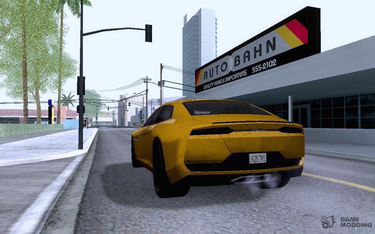Lamborghini Estoque Concept 2008 For GTA San Andreas Rear Left View