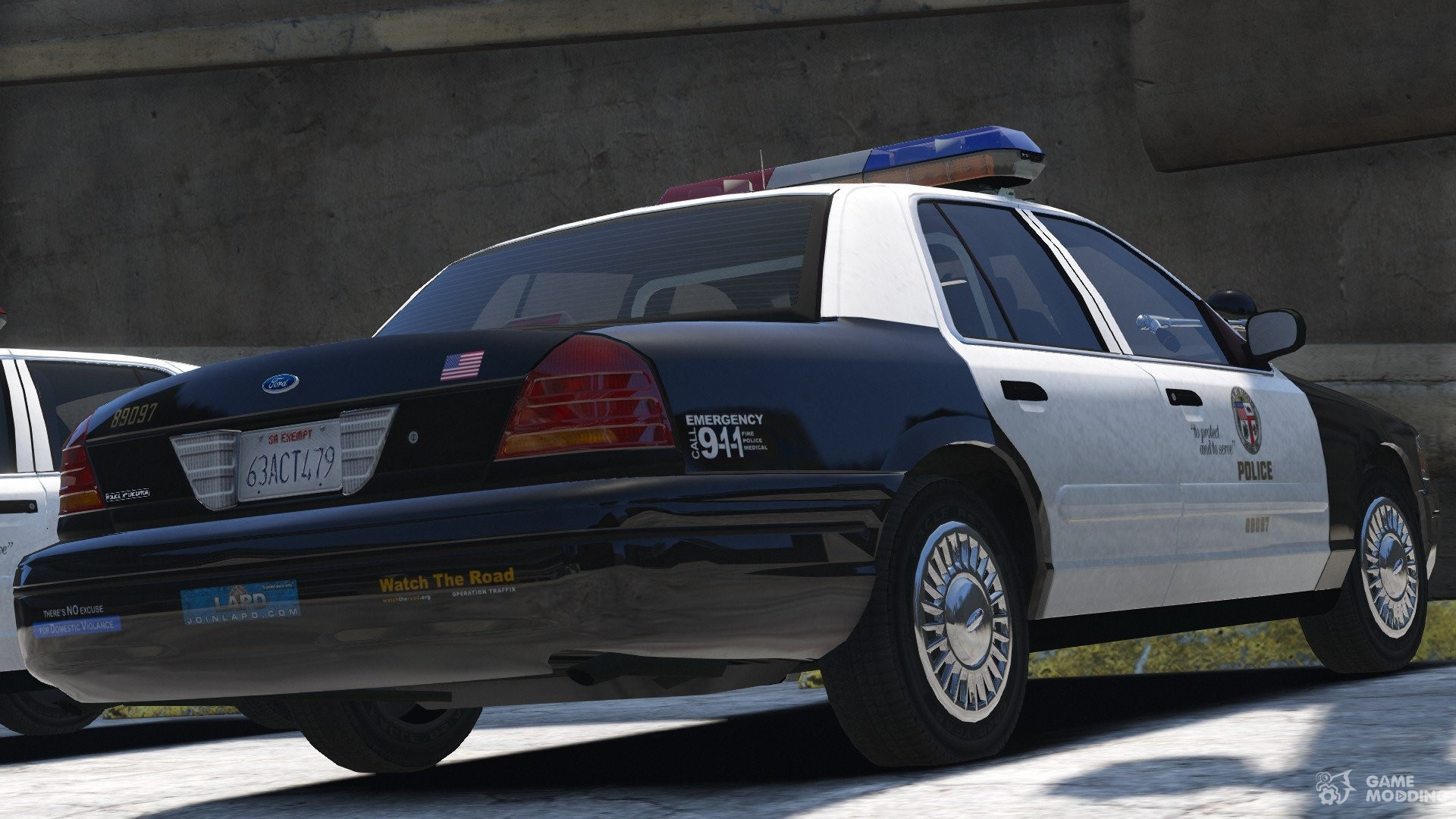 1999 ford crown victoria p71 los angeles police 3 0 for gta 5. Black Bedroom Furniture Sets. Home Design Ideas
