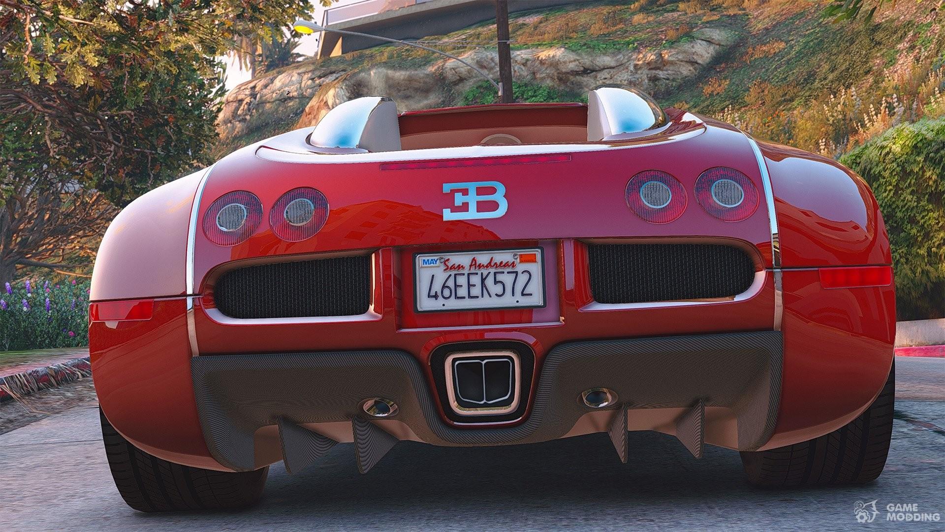 Bugatti Veyron 2009 11 For GTA 5