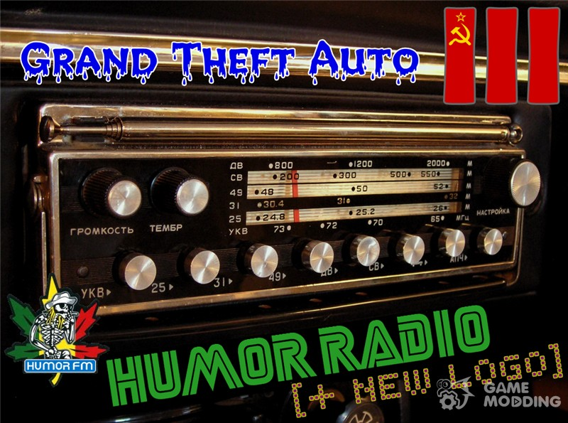 Russian radio HUMOR FM for GTA 3