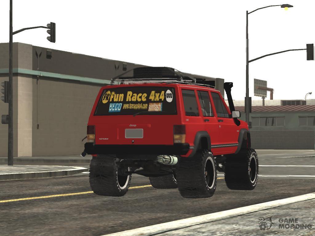Jeep cherokee 1998 off road 4x4 for gta san andreas