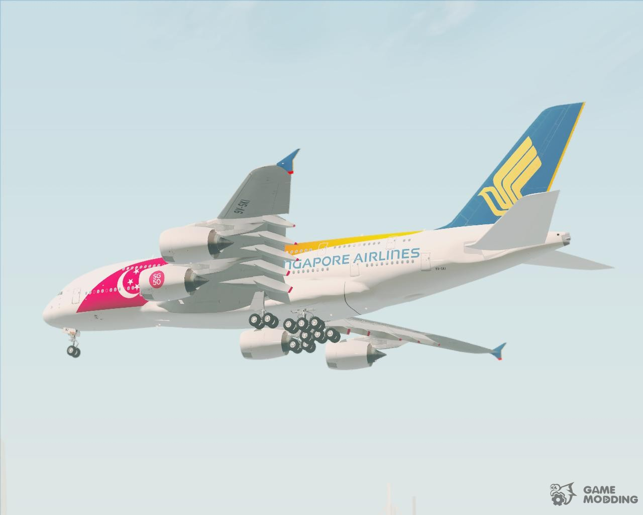 Airbus A380-800 Singapore Airlines 50th Birthday Singapores