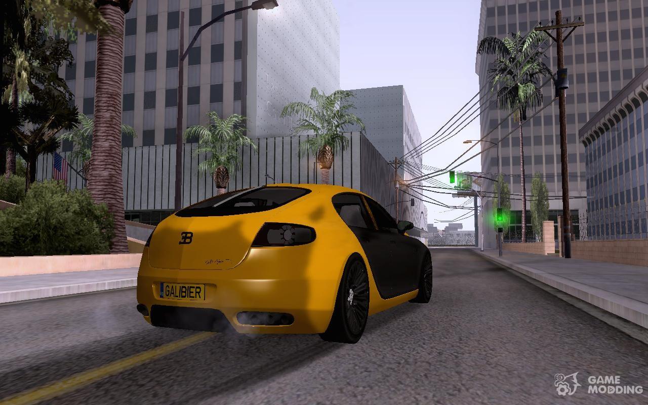 Bugatti Galibier 16c For GTA San Andreas Top View