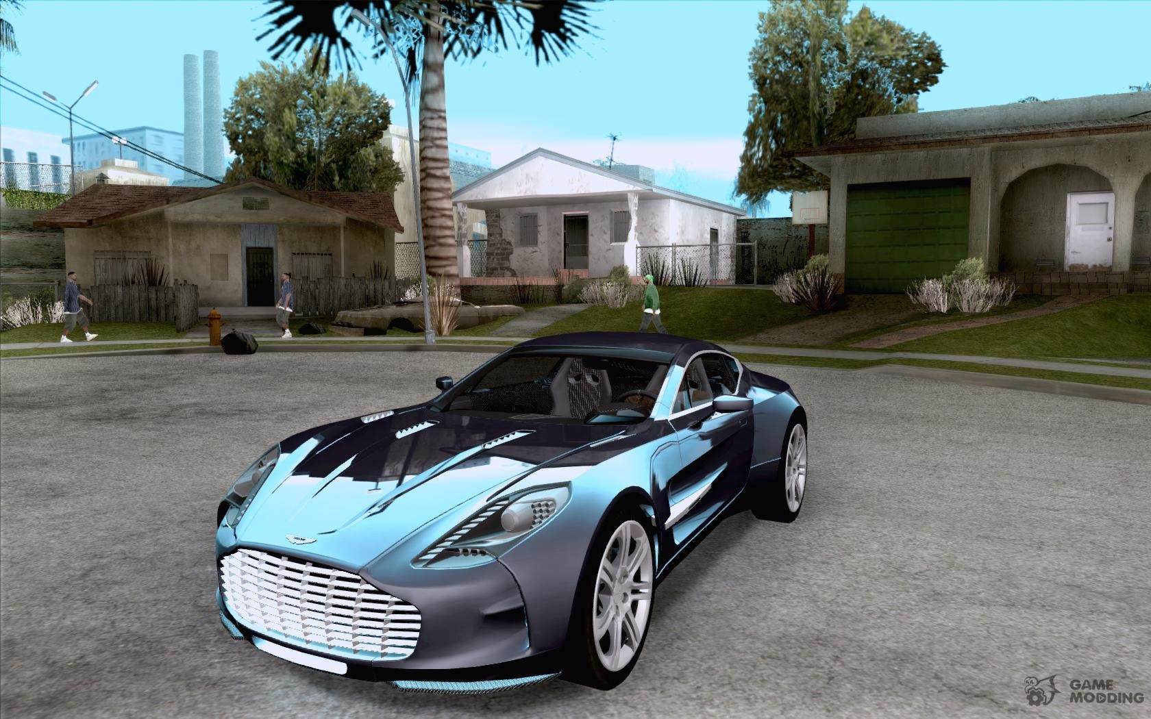 aston martin one 77 for gta san andreas. Black Bedroom Furniture Sets. Home Design Ideas