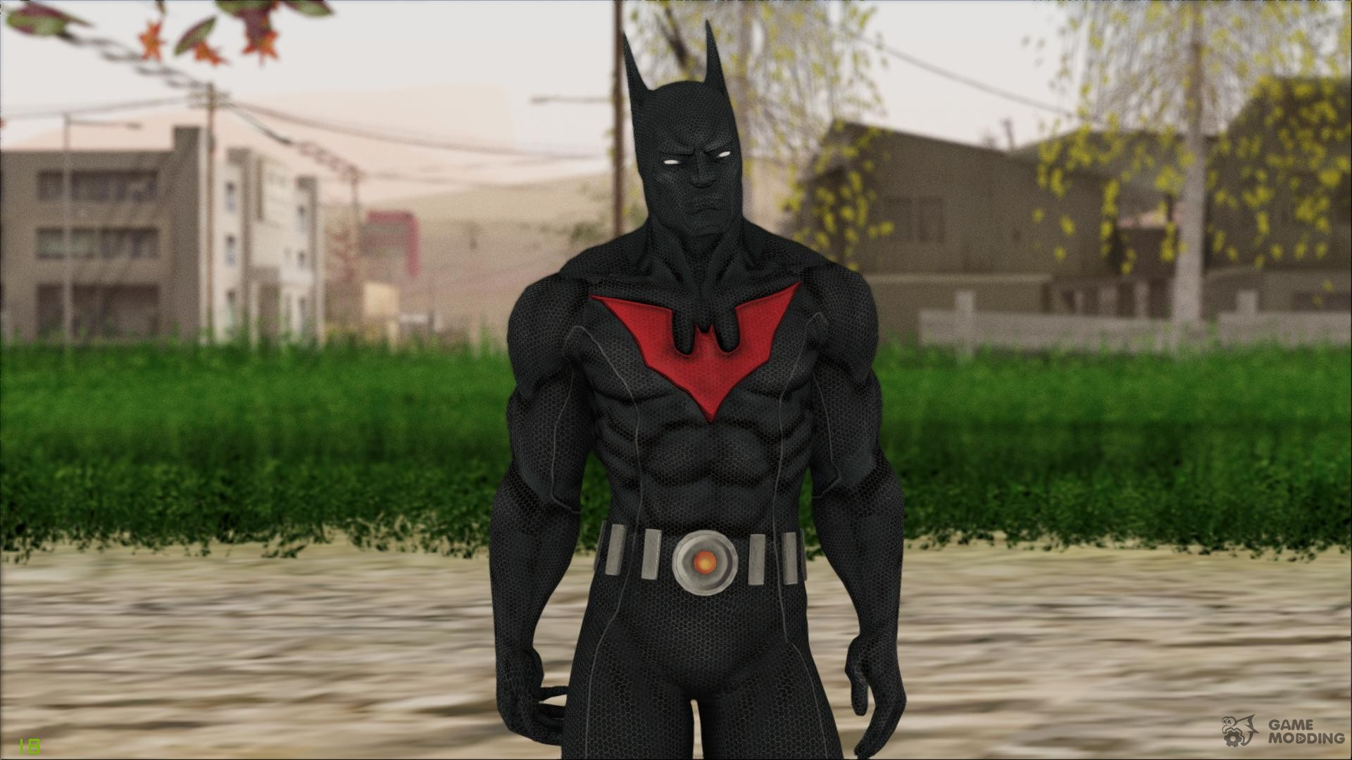 SKIN; Batman; Arkham City; Capeless Batman Beyond - YouTube   Batman Arkham City Batman Beyond Flying